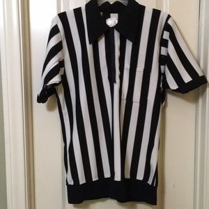 Tops - Referee black/white athletic top